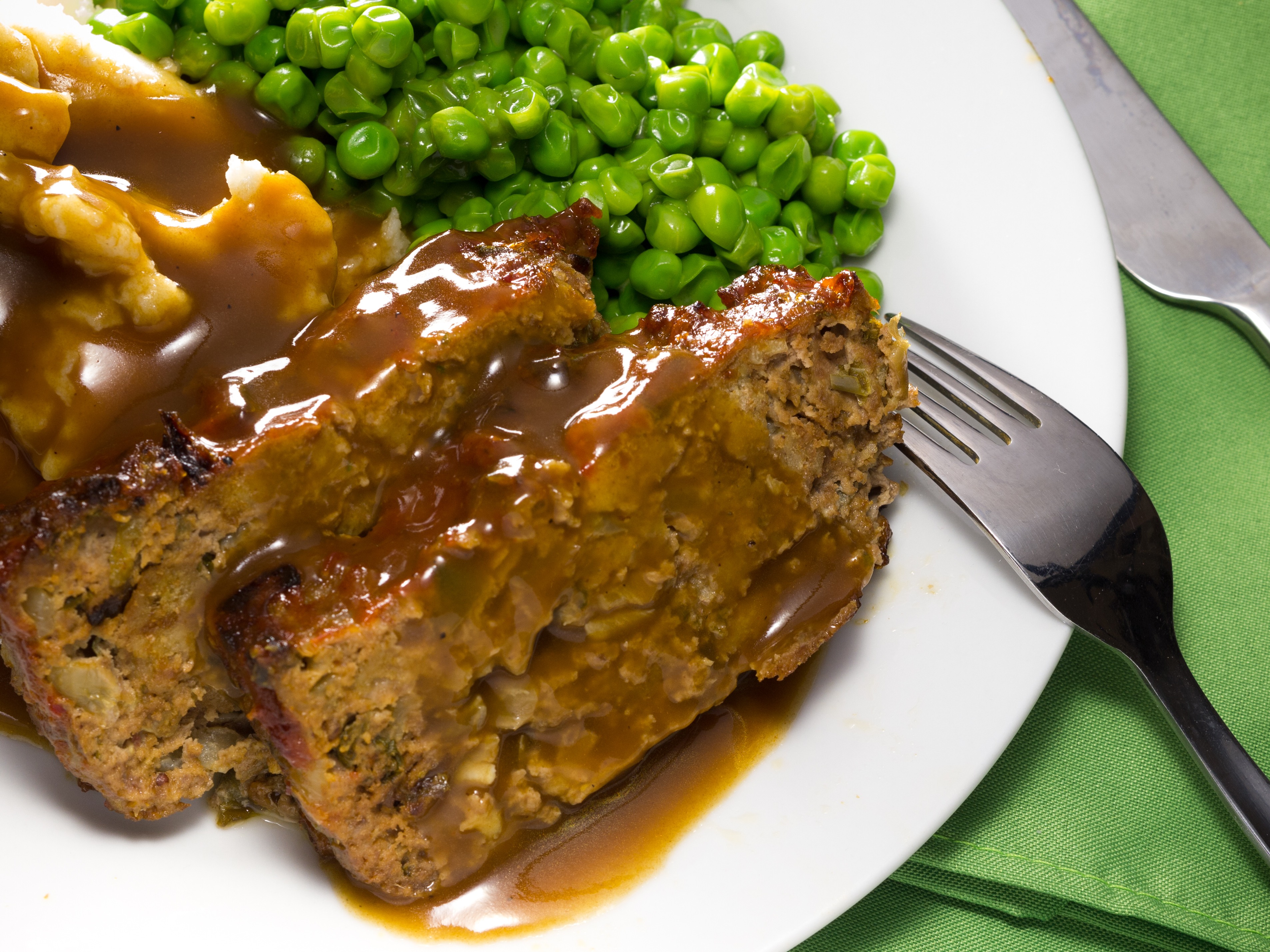 Meatloaf and Brown Gravy