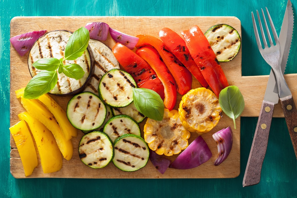 Grilled Veggies tossed with Italian Dressing